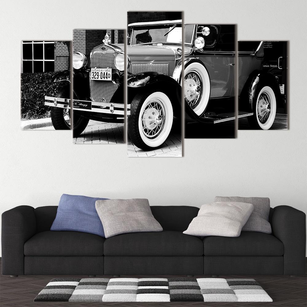 White Wall Car unique canvas