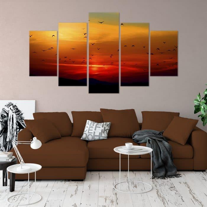 Birds at Sunset- Beautiful Home Décor | Unique Canvas