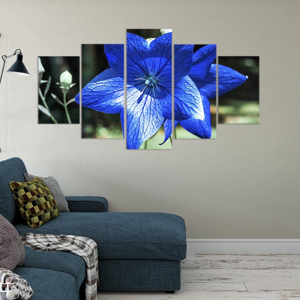 Buy Blue Bellflower Unique Canvas