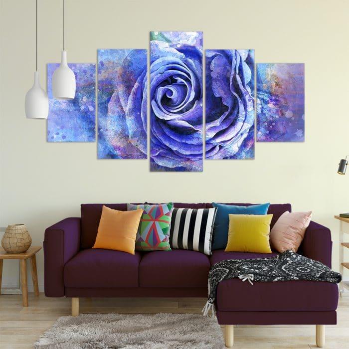 Blue Rose Watercolour - Beautiful Home Décor | Unique Canvas