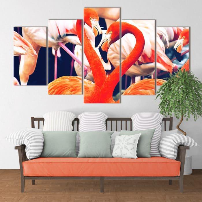Family of Flamingos - Beautiful Home Décor | Unique Canvas