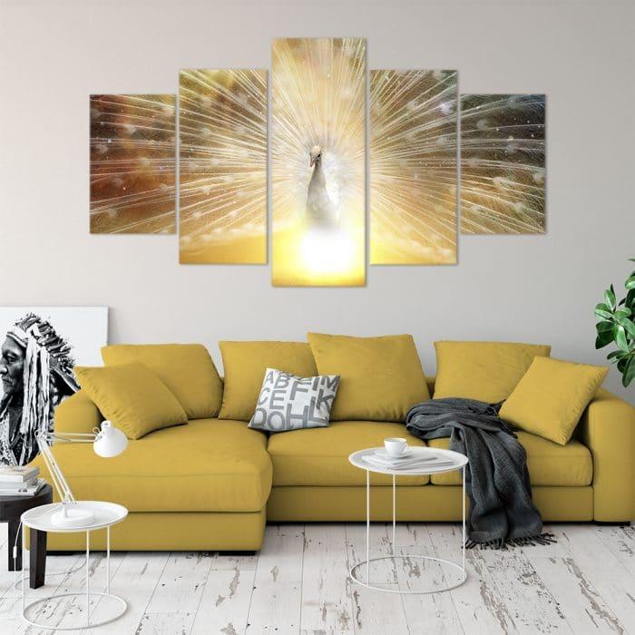 Glowing Peacock - Beautiful Home Décor | Unique Canvas