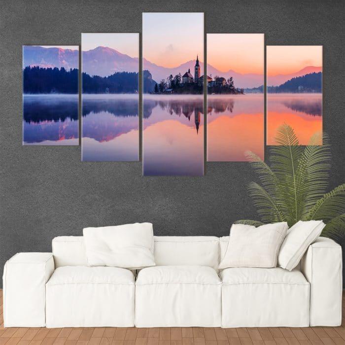 Lake Bled- Beautiful Home Décor | Unique Canvas