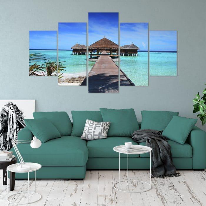 Maldives Paradise- Beautiful Home Décor | Unique Canvas