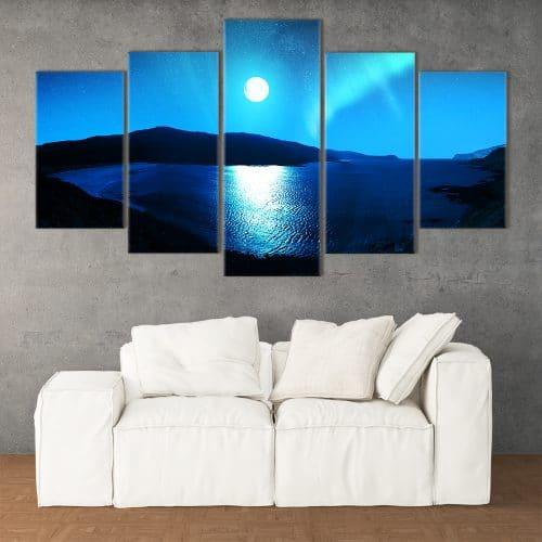 Moonlight Aurora- Beautiful Home Décor | Unique Canvas