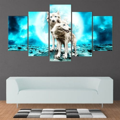 Moonlight Wolves - Beautiful Home Décor | Unique Canvas