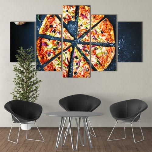 Pizza Delight unique canvas