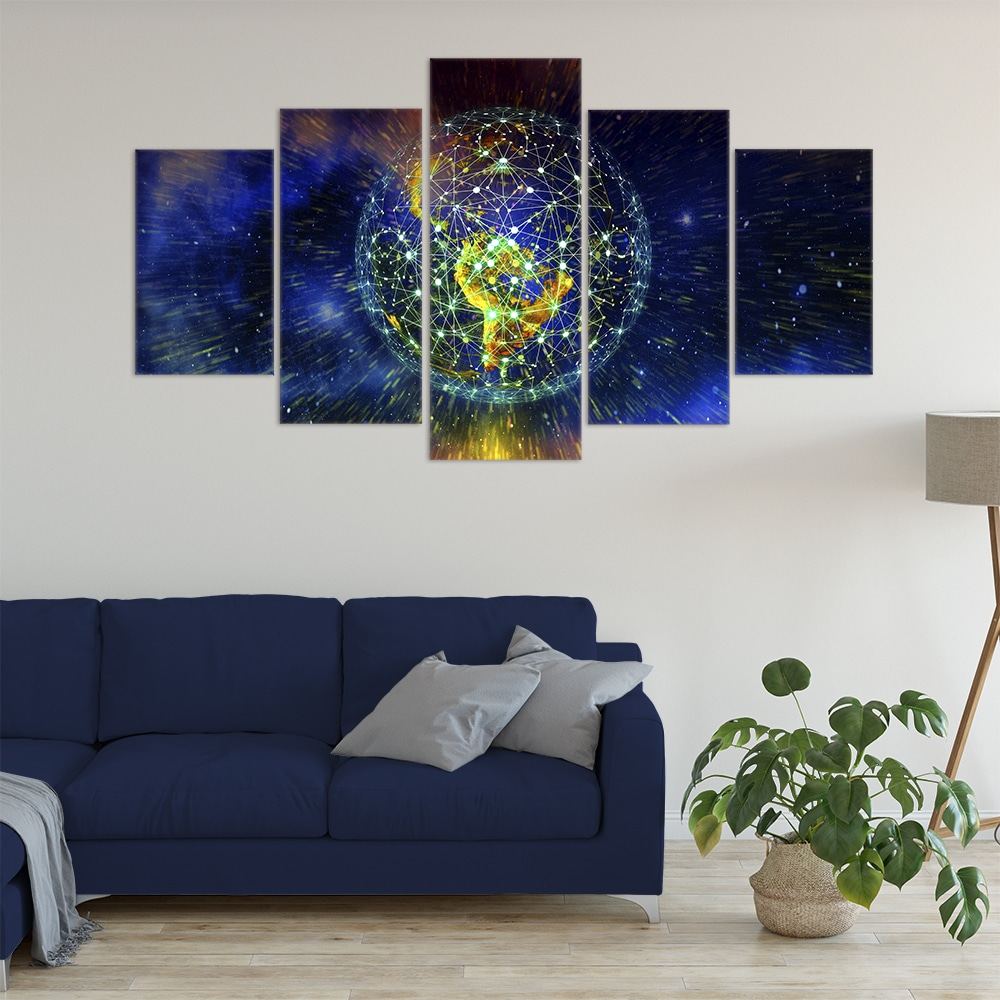 Buy Planet Earth Connected Unique Canvas