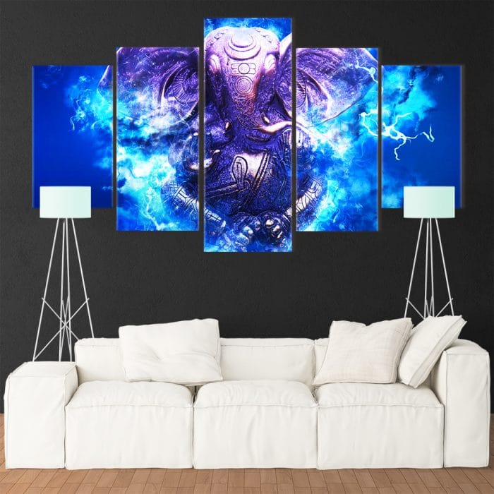 Powerful Ganesh- Beautiful Home Décor | Unique Canvas