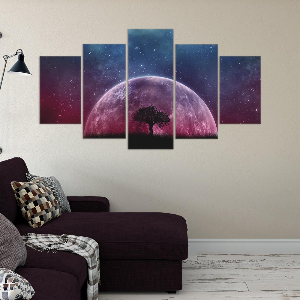 Purple Moonlight- Beautiful Home Décor | Unique Canvas