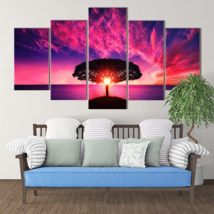 Purple Sunset- Beautiful Home Décor | Unique Canvas