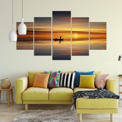 Sail into the Sunset- Beautiful Home Décor | Unique Canvas