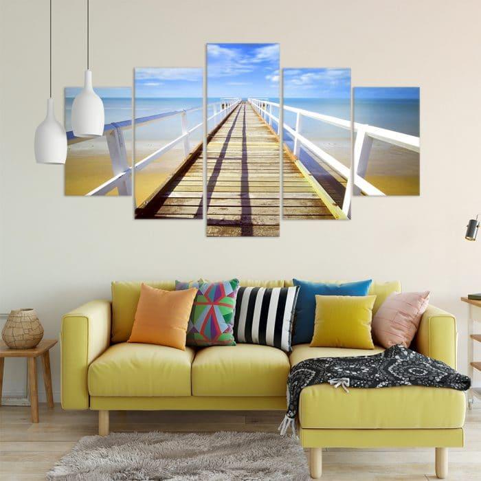 Seaside Pier- Beautiful Home Décor | Unique Canvas