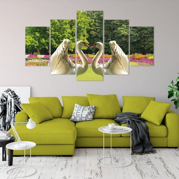 Swans - Beautiful Home Décor | Unique Canvas