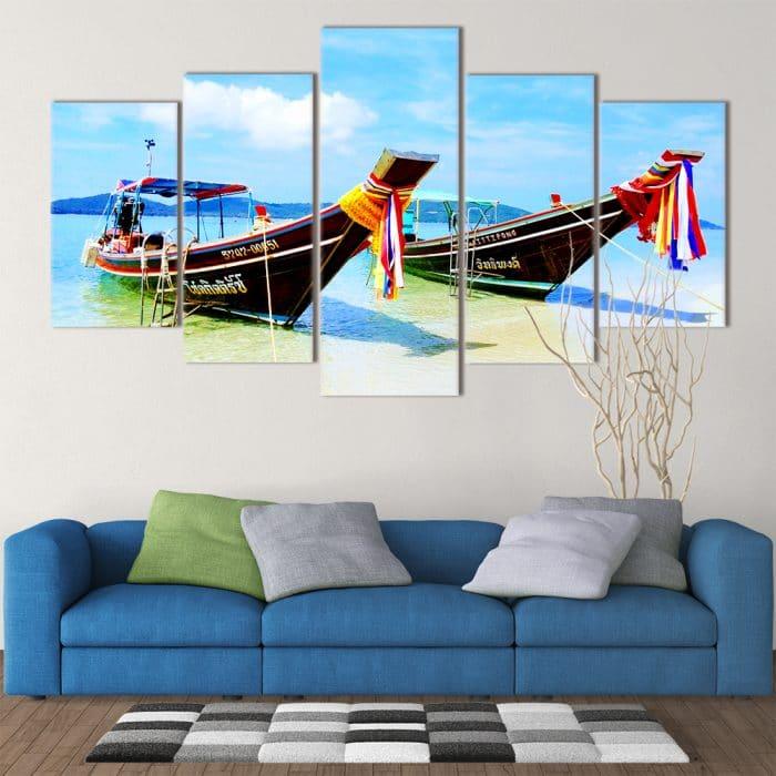 Thai Boats- Beautiful Home Décor | Unique Canvas