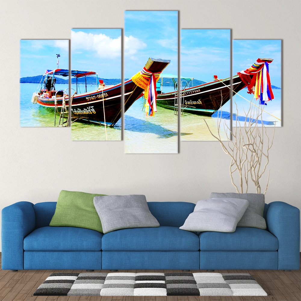 Thai Boats- Beautiful Home Décor | Unique Canvas