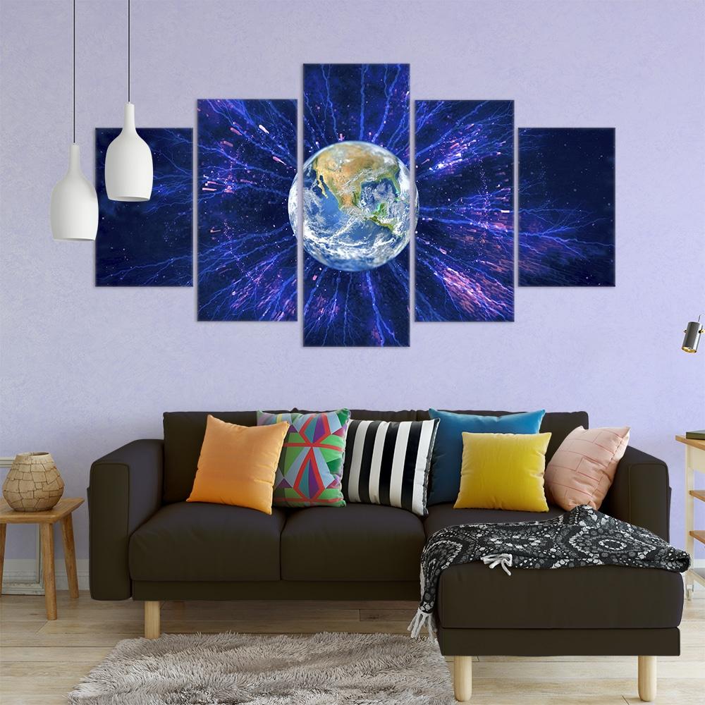 The Earth Cosmos Unique Canvas