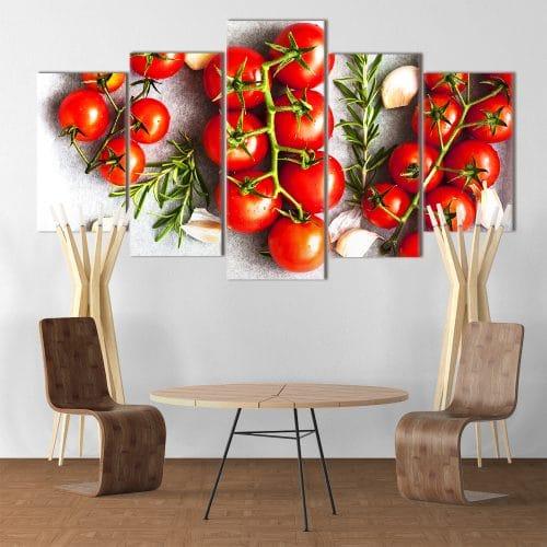 Tomatoes on a Vine unique canvas