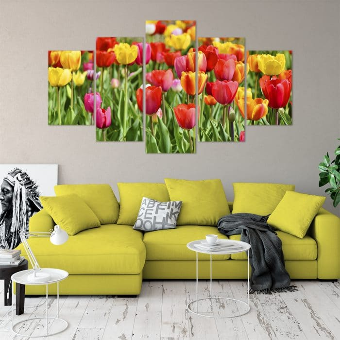 Buy Tulips Love & Flowers Unique Canvas