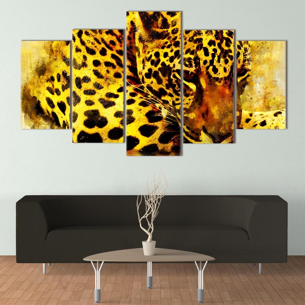 Watercolour Leopard - Beautiful Home Décor   Unique Canvas