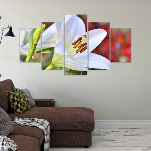 Buy White Lily Love & Flowers Unique Canvas