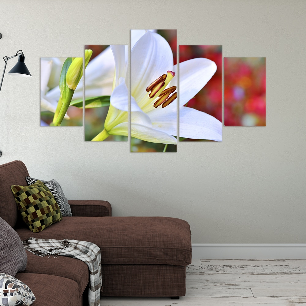 Buy White Lily Love & Flowers Unique Canvas