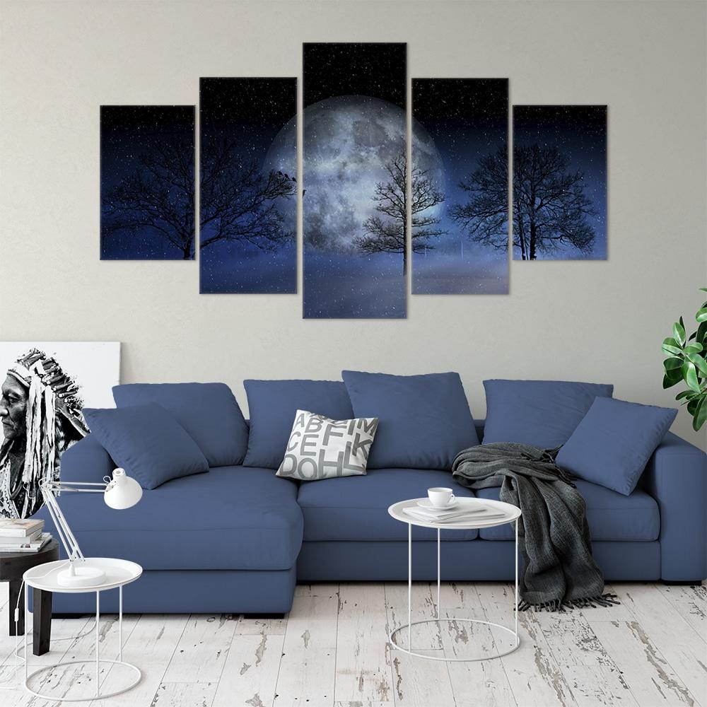 Winter Moon- Beautiful Home Décor | Unique Canvas