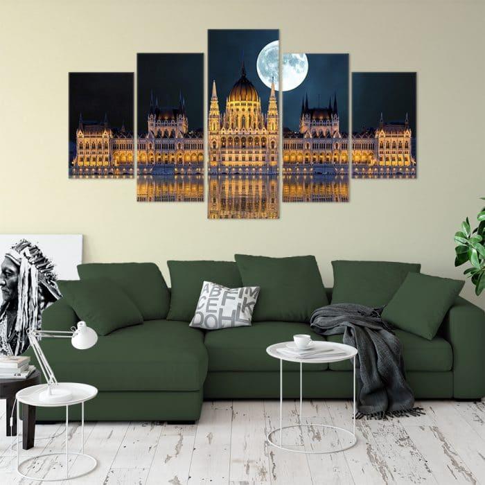 Budapest Parliament Cities Unique Canvas