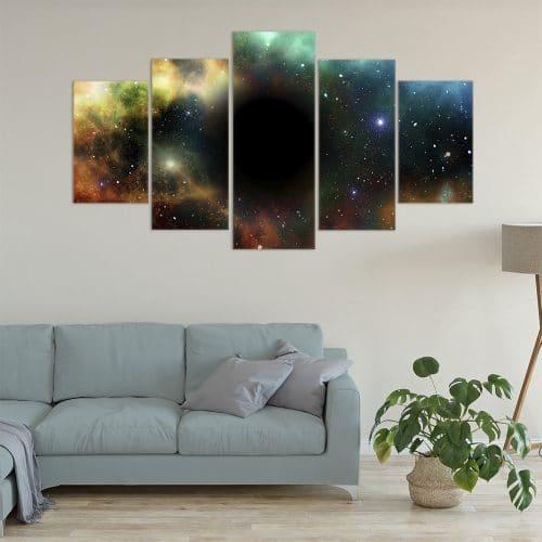 Buy Galaxies Unique Canvas
