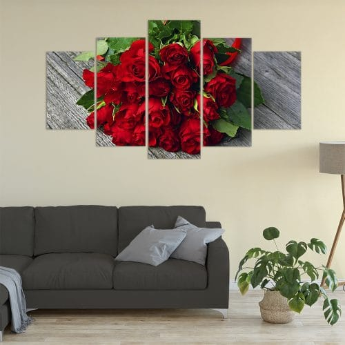 Buy Red Roses Love & Flowers Unique Canvas