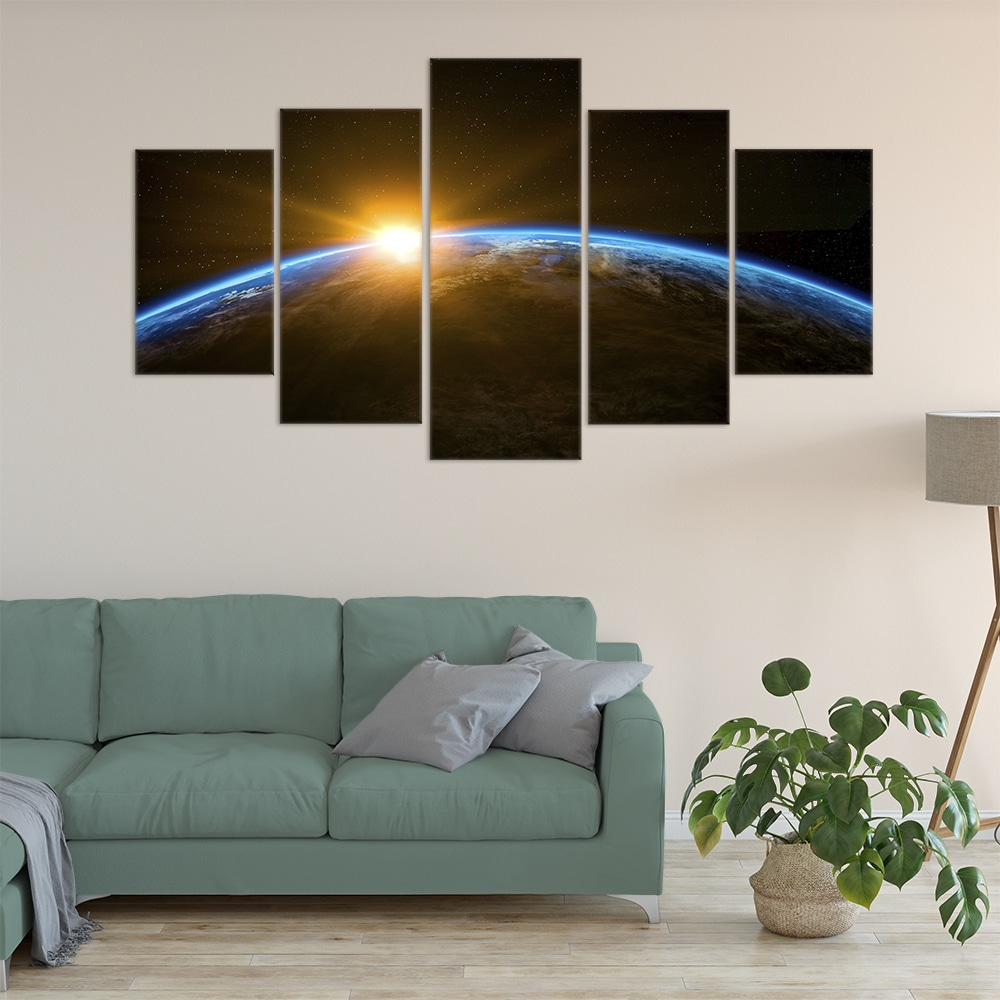 Space Sunrise Unique Canvas