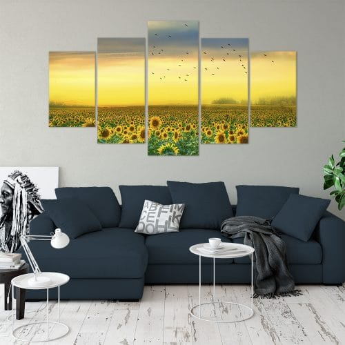 Buy Sunfower Field Love & Flowers Unique Canvas