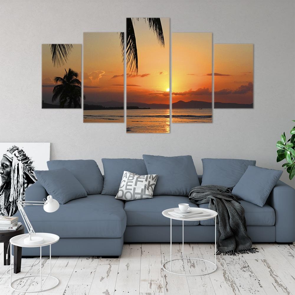 Sunset Beach- Beautiful Home Décor | Unique Canvas