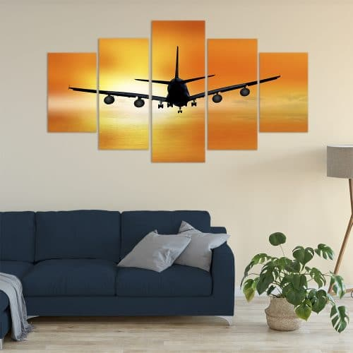 Buy Sunset Flight Unique Canvas