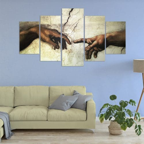 Human Connection Art Unique Canvas