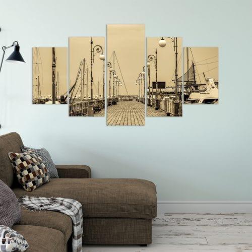Marina Sepia- Beautiful Home Décor | Unique Canvas