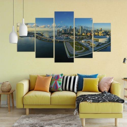 Panoramic Miami - Beautiful Home Décor | Unique Canvas