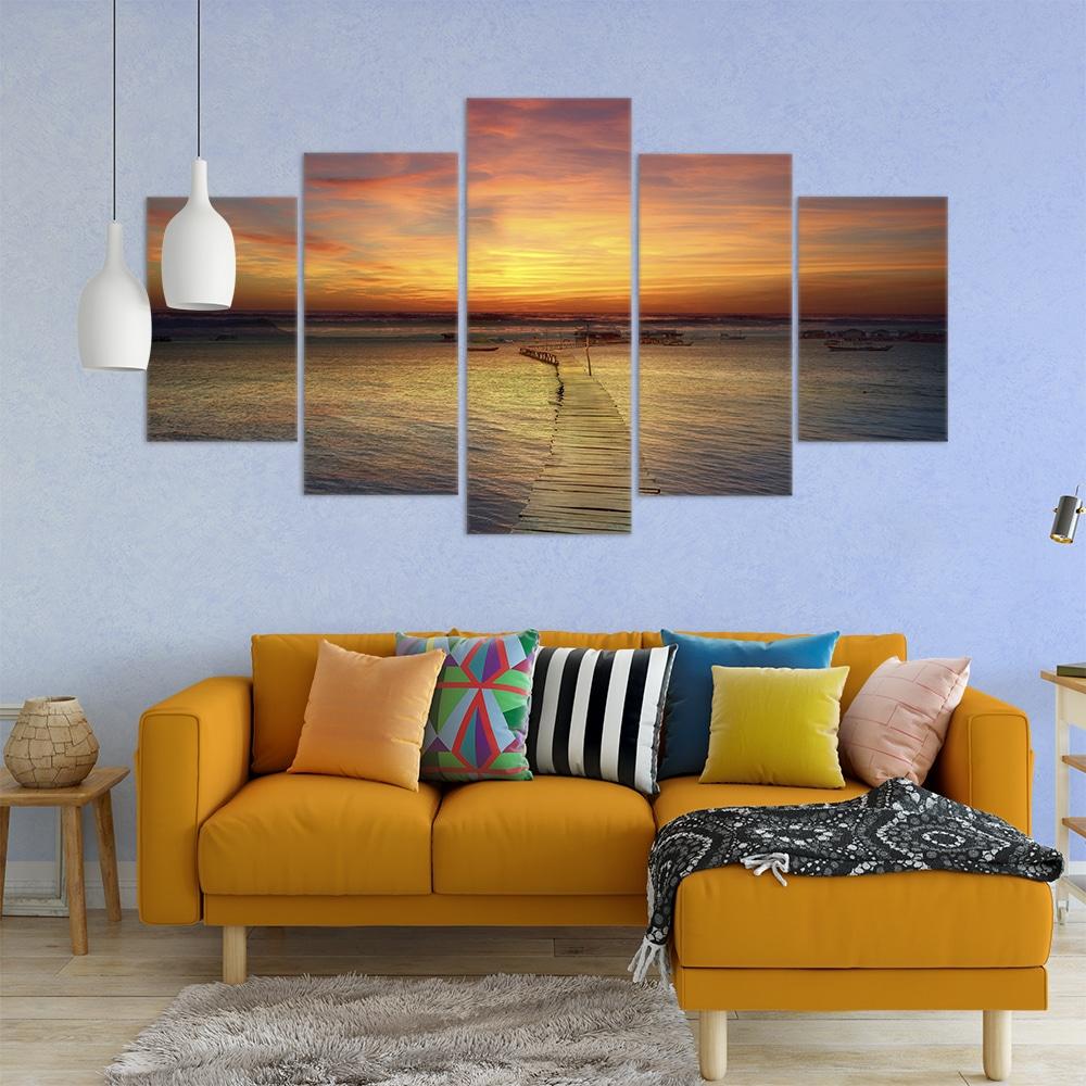 Sunset Jetty- Beautiful Home Décor | Unique Canvas