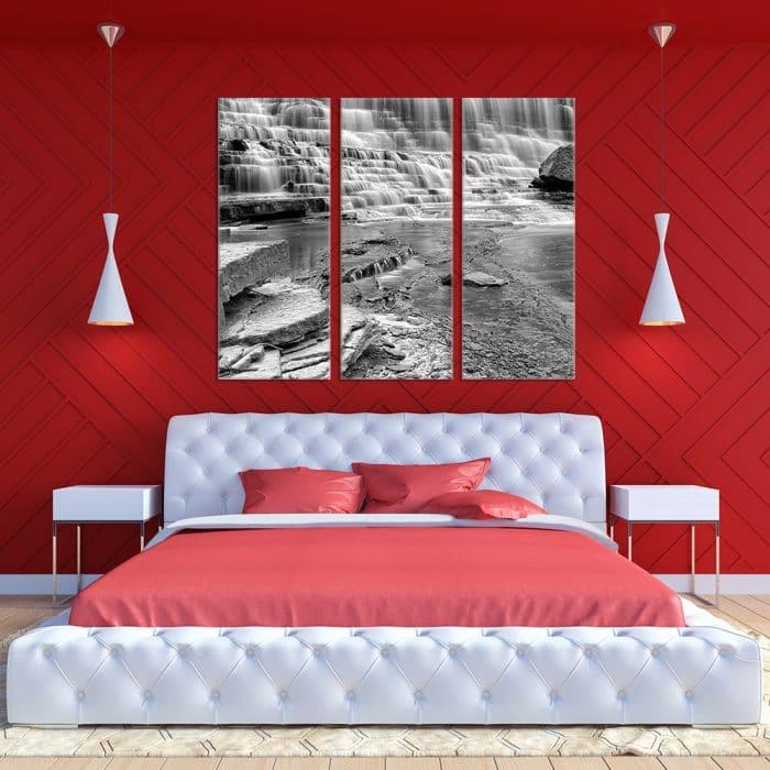 Black & White Waterfall - Beautiful Home Décor   Unique Canvas