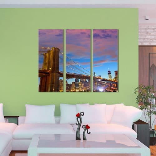 Brooklyn By Night - Beautiful Home Décor | Unique Canvas