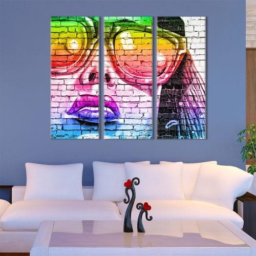 Colourful Face - Beautiful Home Décor | Unique Canvas