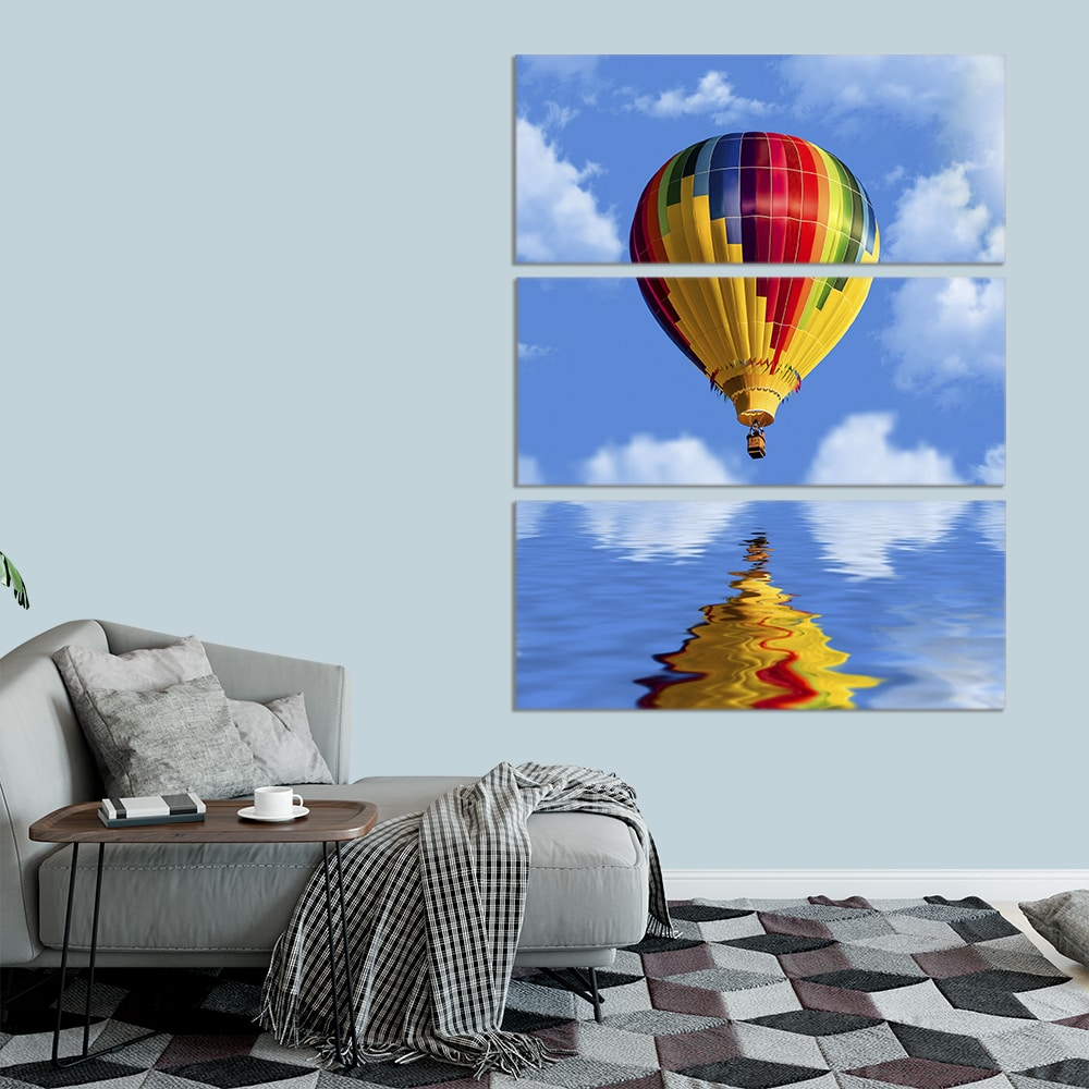 Hot Air Balloon Reflection - Beautiful Home Décor | Unique Canvas