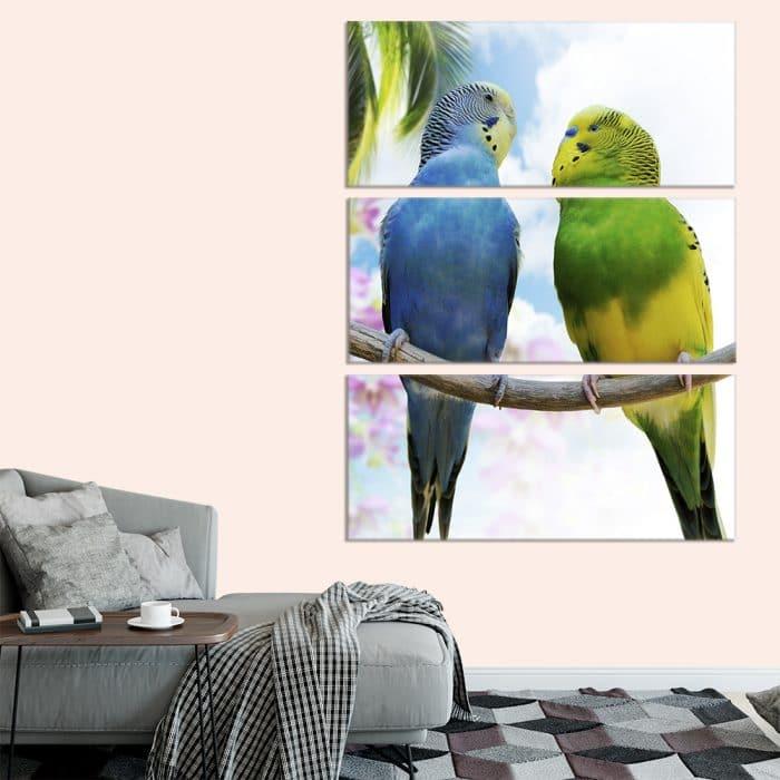 Loving Parrots - Beautiful Home Décor | Unique Canvas
