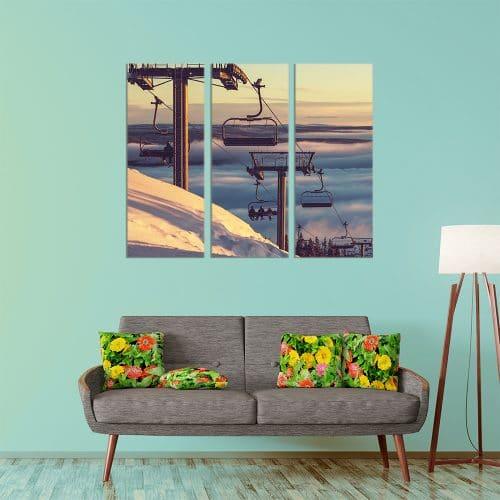 Ski Lift - Beautiful Home Décor | Unique Canvas