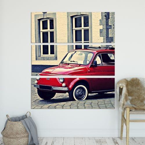 Classic Fiat 500 - Beautiful Home Décor | Unique Canvas