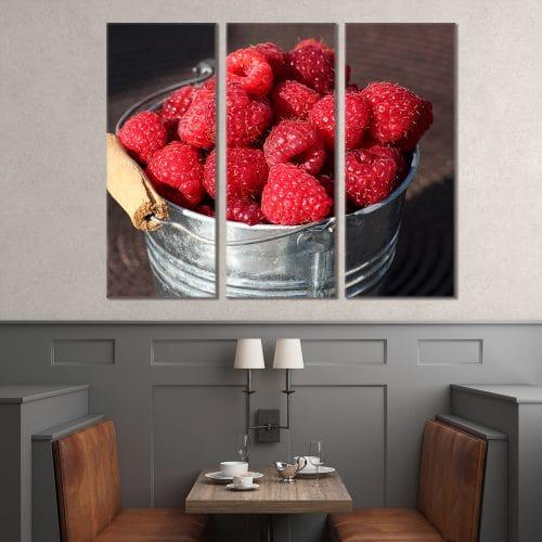 Raspberry Bucket - Beautiful Home Décor | Unique Canvas