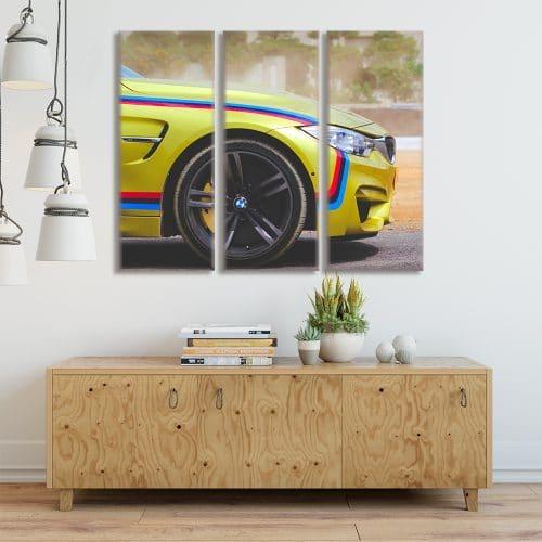 BMW M4 Stripes - Beautiful Home Décor | Unique Canvas