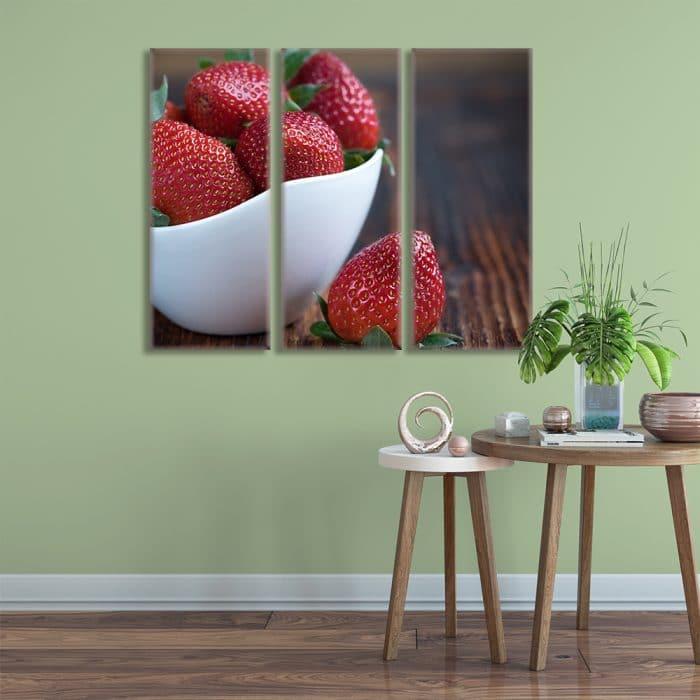 Bowl of Strawberries - Beautiful Home Décor | Unique Canvas