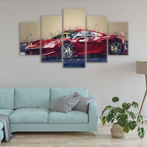 Ferrari Painting Cars Unique Canvas