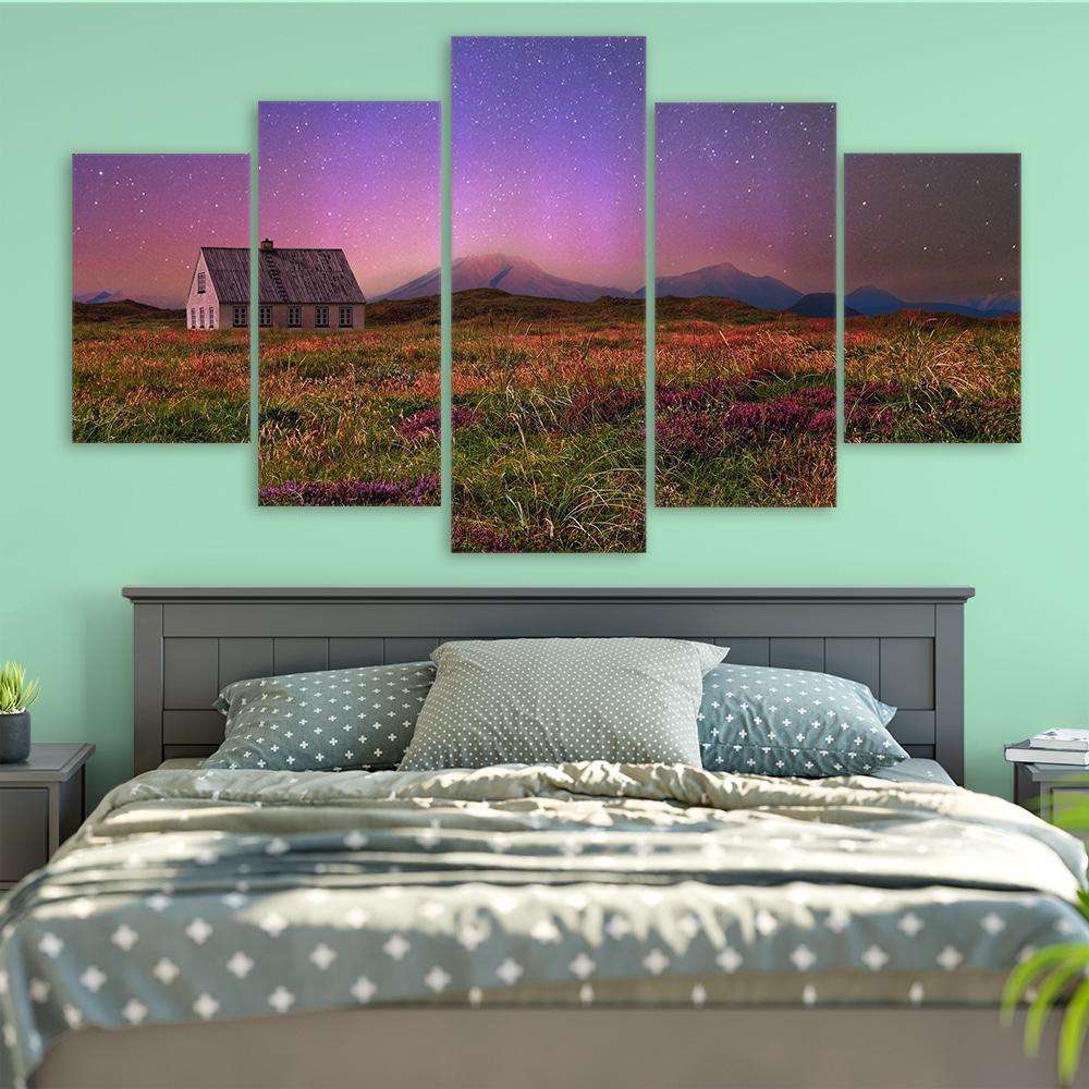 Starry Meadow- Beautiful Home Décor | Unique Canvas
